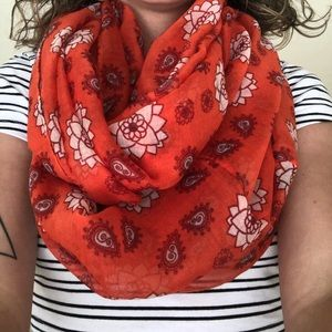 Accessories - Hippie Infinity Scarf in Orange